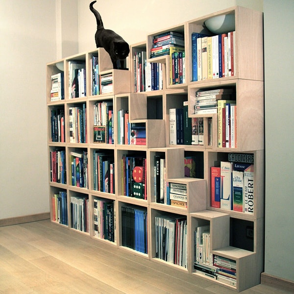 Friendly Bookshelves For Cats