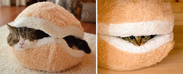 Hamburger Bed For Cats